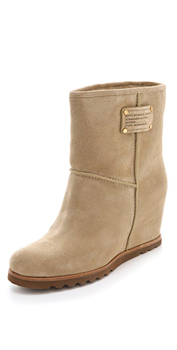 Marc by Marc Jacobs Shearling Wedge Boots