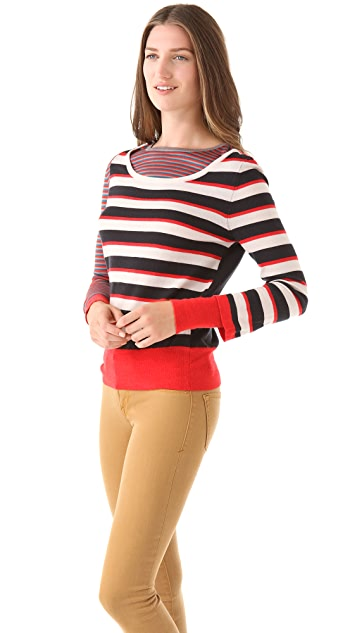 Marc by Marc Jacobs Yaani Striped Sweater