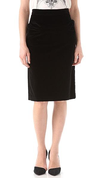 Marc by Marc Jacobs Galya Velvet Skirt