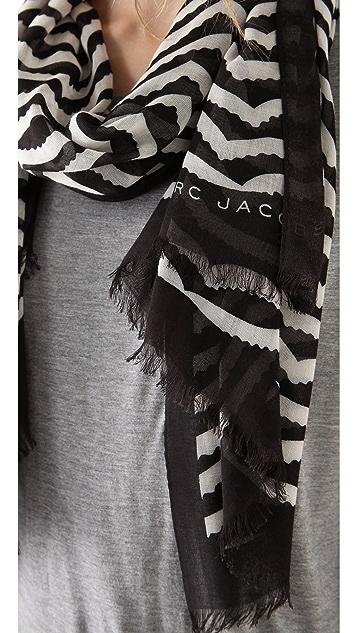 Marc by Marc Jacobs Zora Stripe Scarf
