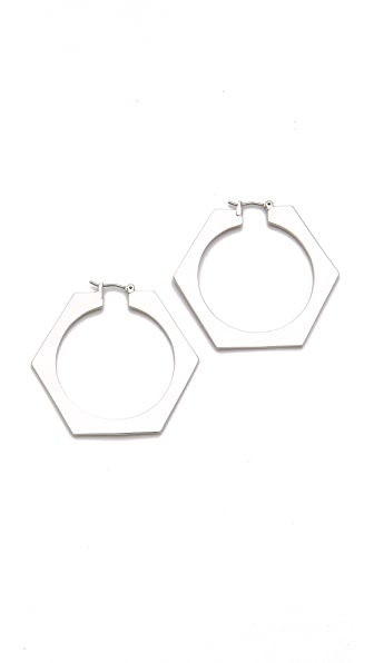 Marc by Marc Jacobs Bolt Slice Hoops