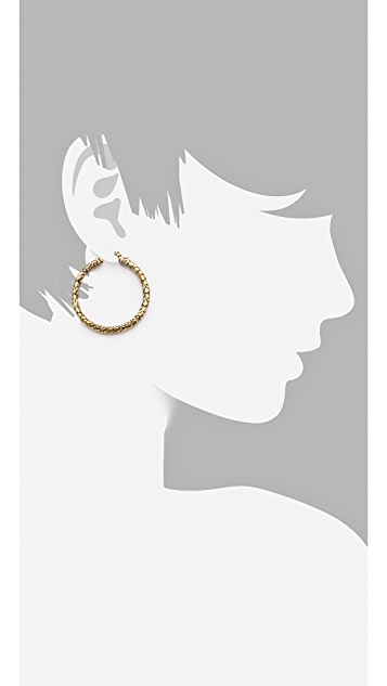 Marc by Marc Jacobs Petal to the Metal Reptile Hoops