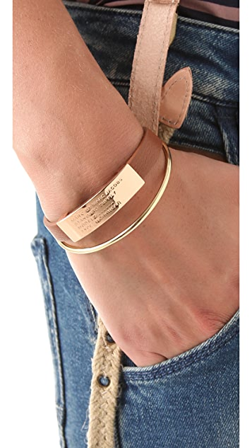 Marc by Marc Jacobs Standard Supply Leather ID Bracelet