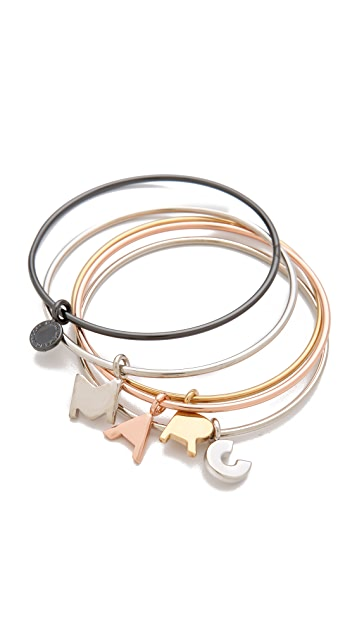 Marc by Marc Jacobs Marc Charm Bangle Set