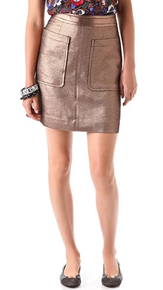 Marc by Marc Jacobs Verushka Metallic Skirt