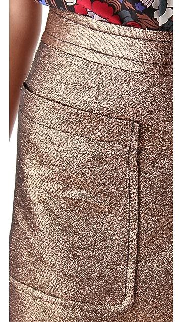 Marc by Marc Jacobs Verushka Metallic Skirt