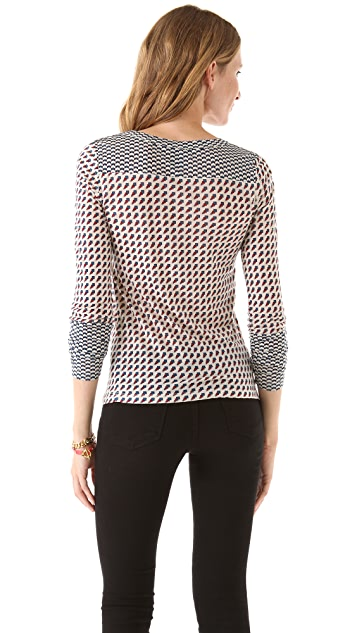 Marc by Marc Jacobs Katinka Print Jersey Top