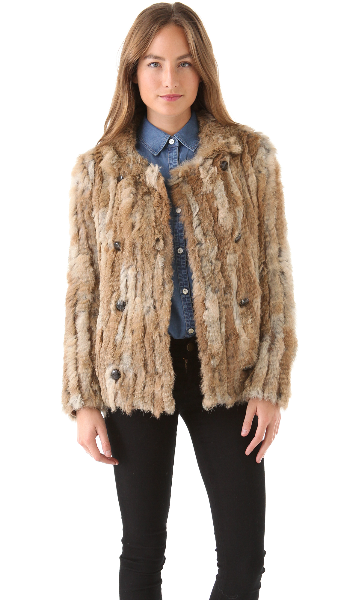 Marc by Marc Jacobs Karina Rabbit Fur Coat | SHOPBOP