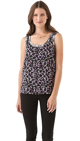 Marc by Marc Jacobs Exeter Print Silk Top