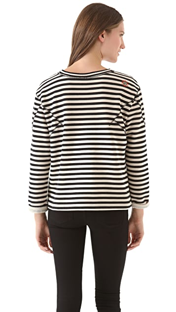 Marc by Marc Jacobs Ben Stripe Terry Top