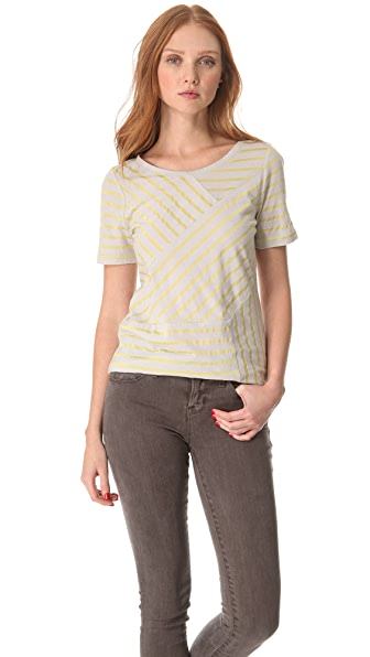 Marc by Marc Jacobs Smith Stripe Jersey Tee