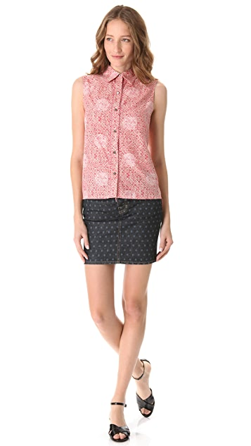 Marc by Marc Jacobs Jamie Dot Sleeveless Top