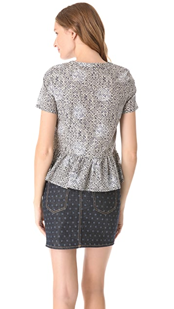 Marc by Marc Jacobs Jamie Dot Peplum Top