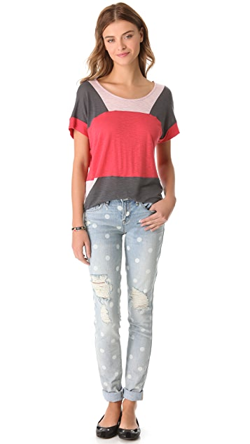 Marc by Marc Jacobs Tanya Colorblock Jersey Top