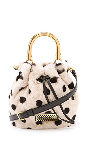 Marc by Marc Jacobs Too Hot To Handle Fur Little Drawstring Bag