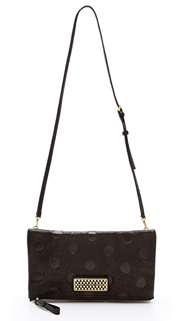 Marc by Marc Jacobs Too Hot To Party Dot Fold Over Clutch