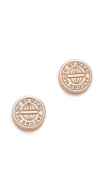Marc by Marc Jacobs Engraved Stud Earrings