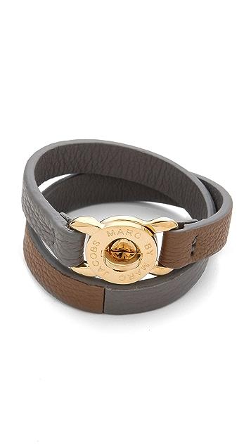 Marc by Marc Jacobs Katie Double Wrap Leather Bracelet