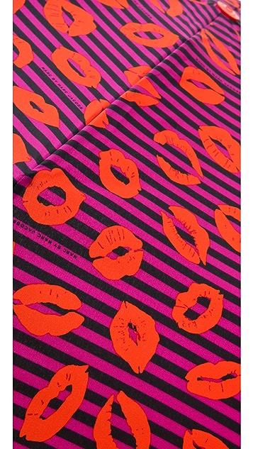 Marc by Marc Jacobs Skinny Stripey Lips Umbrella