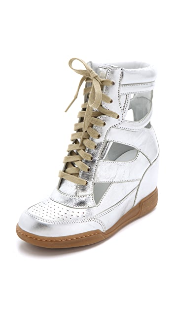 Marc by Marc Jacobs Metallic Cutout Sneaker Wedges