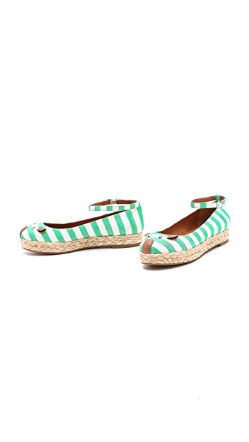 Marc by Marc Jacobs Mouse Striped Espadrilles
