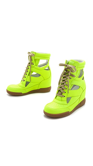 Marc by Marc Jacobs Neon Cutout Wedge Sneakers