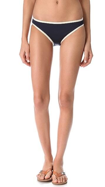 Marc by Marc Jacobs Woodward Solids Side Tie Bikini Bottoms