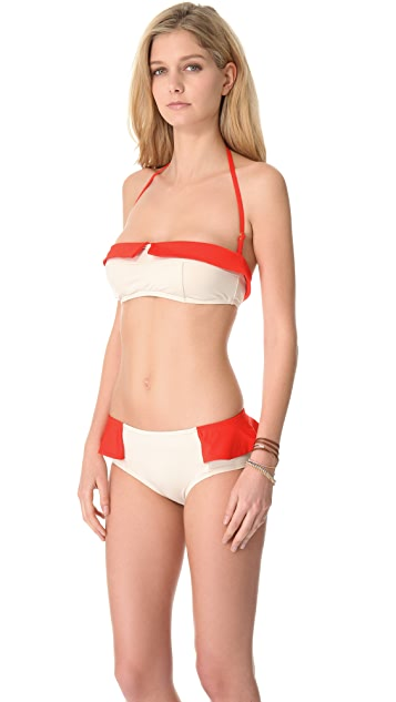 Marc by Marc Jacobs Colorblock Bandeau Bikini Top