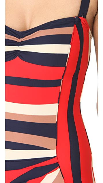 Marc by Marc Jacobs Pleated Maillot