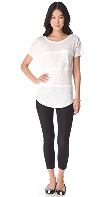 Marc by Marc Jacobs Slubbed Linen Jersey Tee