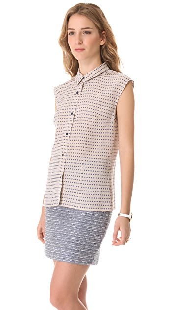 Marc by Marc Jacobs Izzy Dot Print Top
