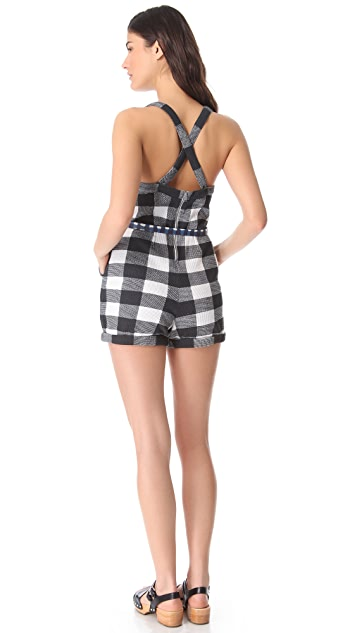 Marc by Marc Jacobs Harry Checked Thermal Romper