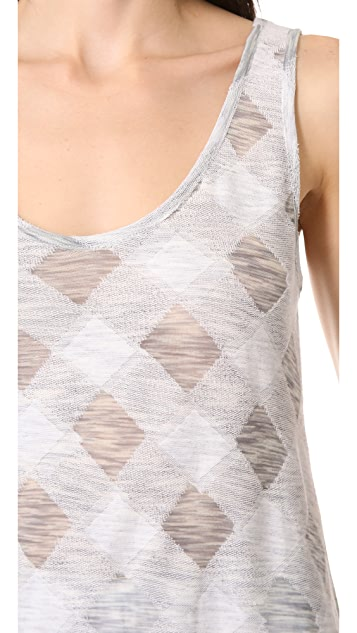Marc by Marc Jacobs Gauze Check Knit Top
