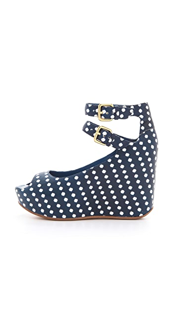 Marc by Marc Jacobs Isabella Dot Print Wedges