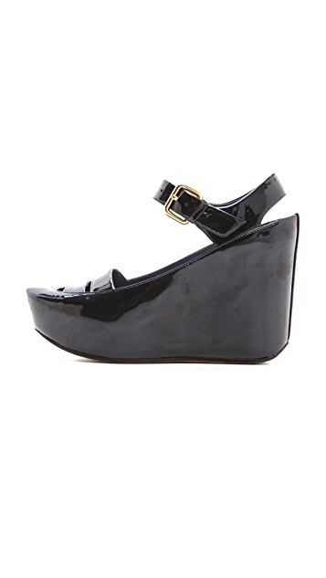 Marc by Marc Jacobs Carpaint Metallic Wedge Sandals