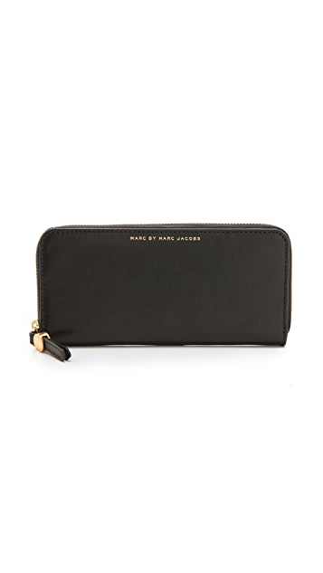 Marc by Marc Jacobs Globetrotter Slim Zip Around Wallet