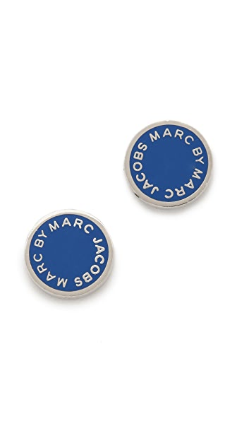 Marc by Marc Jacobs Classic Marc Enamel Logo Disc Studs