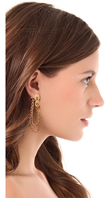 Marc by Marc Jacobs Studs Zip Pull Draped Earrings