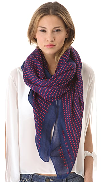 Marc by Marc Jacobs Woven Isabella Dot Scarf