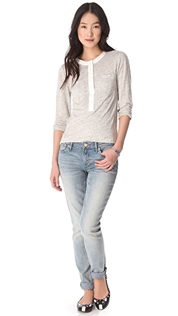 Marc by Marc Jacobs Slubbed Linen Jersey Top