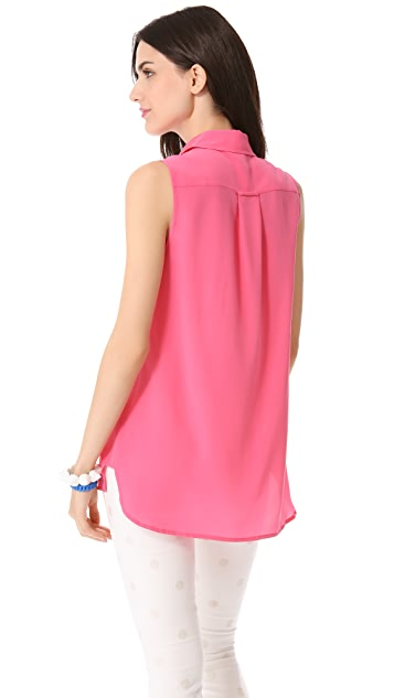 Marc by Marc Jacobs Erin Silk Sleeveless Top