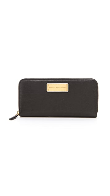 Marc by Marc Jacobs Washed Up Slim Zip Around Wallet