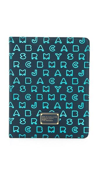 Marc by Marc Jacobs Dreamy Logo Neoprene Metallic Tablet Book
