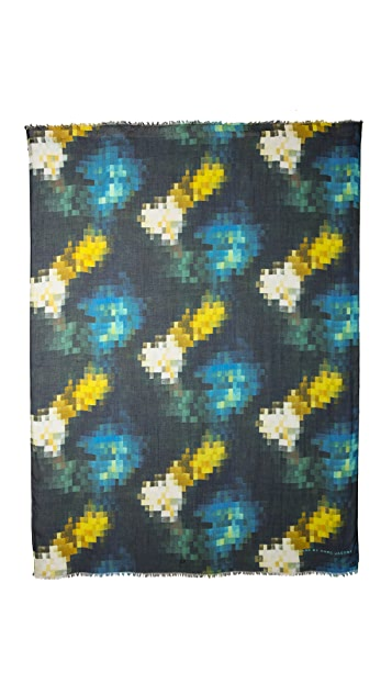 Marc by Marc Jacobs Pixelated Print Scarf