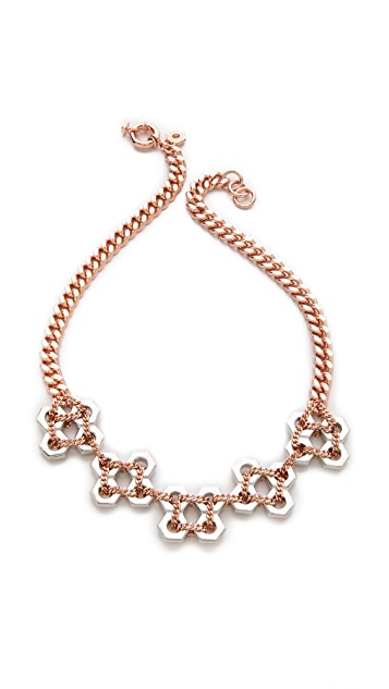 Marc by Marc Jacobs Square Bolts Bib Necklace