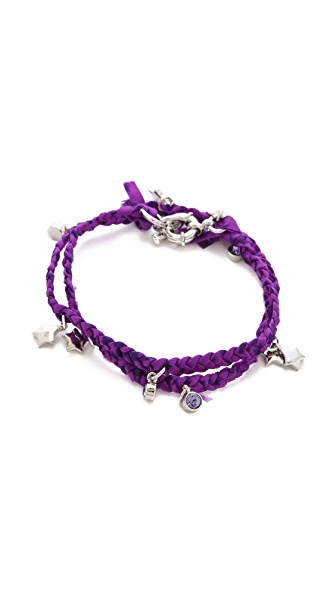 Marc by Marc Jacobs Braided Charm Double Wrap Bracelet