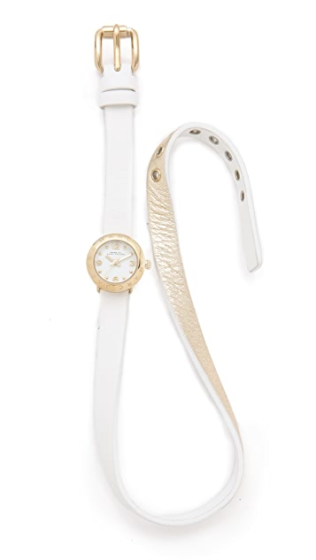Marc by Marc Jacobs Amy Double Wrap Leather Watch