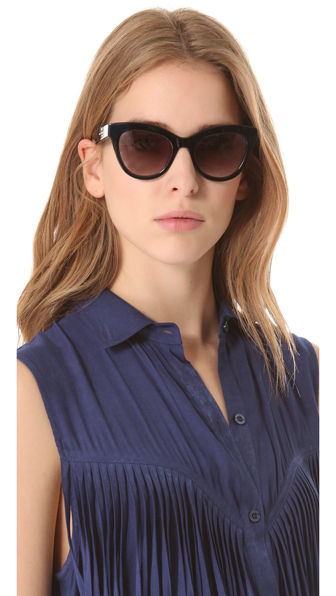 Marc by Marc Jacobs Cateye Sunglasses in Black Grey Marc Jacobs Oq3hcP