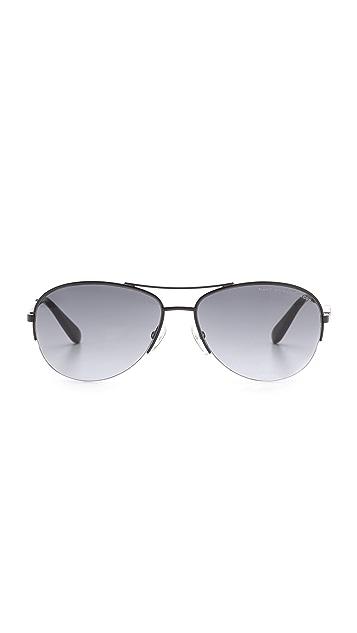 Marc by Marc Jacobs Metal Bird Aviator Sunglasses