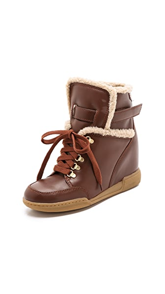 Marc by Marc Jacobs Sherpa Lined Wedge Sneakers